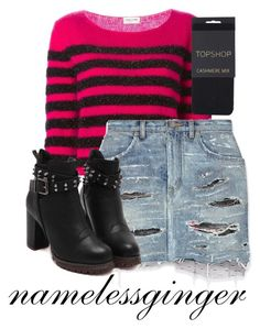 untitled #349 by namelessginger on Polyvore featuring polyvore fashion style Yves Saint Laurent Topshop clothing