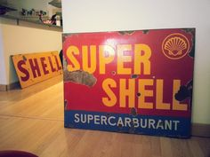 Shell & SuperShell Enamel Signs