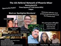 Don't miss our Phoenix mixer Wednesday 6/24 at Times Square .