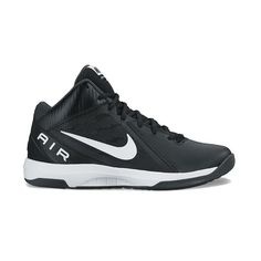 Nike The Air Overplay IX Men's Basketball Shoes, Size: 10, Black