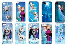 Disneys Frozen Cartoon Elsa Anna Olaf Let it Go iPhone 5s, iPhone 5c, iPhone 5, iPhone 4S, Galaxy s3, Galaxy s4, Note 3 Case w/Free Pen