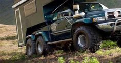 Wow, a Ram truck 6x6? Check out the slick camper and monster tires on this! - Expedition Offroad - Carzz - Campers, Ram Trucks and 4x4