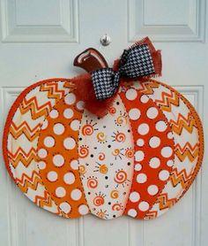 Wooden Pumpkin Door Hanger by AtCalvaryCreations on Etsy Thanksgiving Crafts, Fall Crafts, Halloween Crafts, Holiday Crafts, Diy Crafts, Fall Door Hangers, Burlap Door Hangers, Wooden Door Signs, Pumpkin Door Hanger