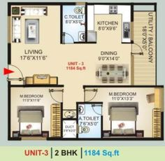 2bhk at GK Lake view