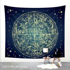 Sternzeichen Sterne Karte Wandbehang