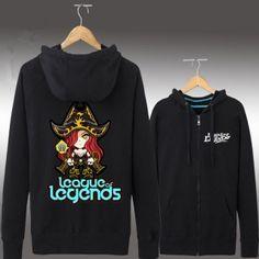 Miss Fortune printed  raglan sleeve sweatshirt League of Legends theme