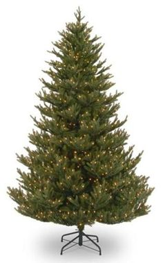 National Tree PEB1-304-75 7.5' Balsam Fir Medium Hinged Tree with 750 Clear Lights