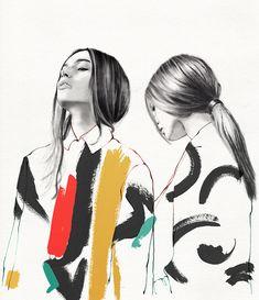 Fashion Drawing Tra moda e arte: Lucie Birant Fashion Illustration Sketches, Fashion Sketchbook, Art And Illustration, Fashion Sketches, Lifestyle Illustrations, Illustration Editorial, Fashion Illustration Techniques, Fashion Art, Editorial Fashion
