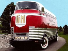 GM Futurliner GM Futurliner was designed in the by Harley Earl. I saw this on display at a car show in Scottsdale AZ.GM Futurliner was designed in the by Harley Earl. I saw this on display at a car show in Scottsdale AZ. Cool Trucks, Big Trucks, Semi Trucks, Classic Trucks, Classic Cars, Chevy Classic, Station Wagon, Vintage Cars, Antique Cars