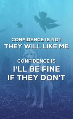 "Confidence is not: ""They will like me"". Confidence is: ""I'll be fine if they don't"". #motivation #confidence #success #quoteoftheday #quotestoliveby #wordstoliveby #inspirationalquotes"