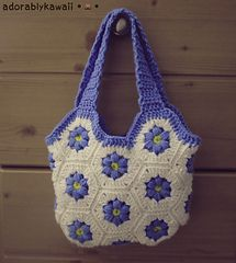 Free Flower Hexagon Bag Crochet Pattern, thanks so for freebie download xox