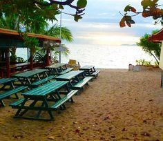 So eine Sitzbank am Strand am besten wieder Heim nehmen.