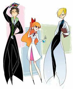 Butch, Blossom and Bash Cartoon As Anime, Cartoon Shows, Girl Cartoon, Cartoon Characters, Powerpuff Girls, Super Nana, Character Art, Character Design, Ppg And Rrb