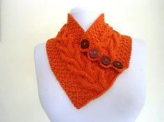 new Tangelo neckwarmers autumn wool por likeknitting en Etsy