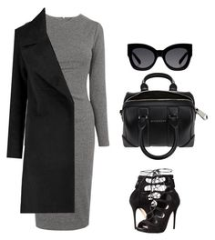 """""""Untitled #390"""" by maritzawaffles on Polyvore featuring Whistles, Alexander McQueen, Givenchy, Karen Walker, women's clothing, women's fashion, women, female, woman and misses"""