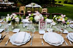 Romantic yet rustic table setting