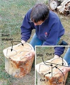 If a tree falls in the forest (or your neighborhood), can you salvage it for turning stock? Here we& show you how to make quality bowl blanks from a promising log. Woodworking Organization, Intarsia Woodworking, Woodworking Joints, Woodworking Workbench, Woodworking Workshop, Woodworking Techniques, Woodworking Furniture, Woodworking Crafts, Woodworking Quotes