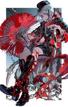 트위터 blood moon shall rise again Anime Art Girl, Anime Boys, Manga Art, Manga Anime, Anime Girl Dress, Touken Ranbu, Anime Style, Japon Illustration, Estilo Anime
