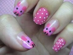 Easy and cute ,nail art.