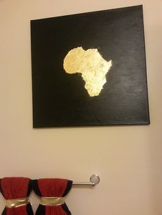 DIY African art with tutorial.