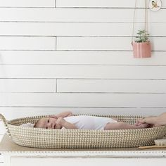The gorgeous Olli Ella Reva changing basket - proof that baby changing can be chic and elegant! Online now in the what's new category #thismodernlife #babychanging #modernnursery #changingstation