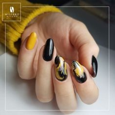 Most Eyecatching Beautiful Nail Art Ideas 2019 Fall Nails Glitter – Fall Nails catching Acrylic Nail Designs, Nail Art Designs, Acrylic Nails, Marble Nails, Gel Nail, Ocean Nail Art, Yellow Nail Art, Long Stiletto Nails, Matte Nail Art