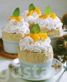 Lajos Mari konyhája - Narancsos gesztenyeparfé Vanilla Cake, Pudding, Desserts, Baby, Food, Tailgate Desserts, Deserts, Custard Pudding, Essen