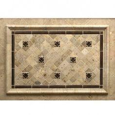 "Tile Decorative Inserts Campione 13"" X 13""  Andretti  Colors And In Color"