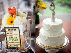 Colson Griffith Photography via CeremonyBlog.com Love this wedding cake and the sculpture on top!