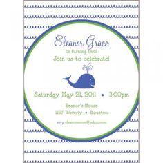 Little Blue Whale Invitation