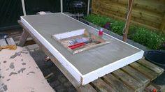 betonnen aanrechtblad - beton gieten