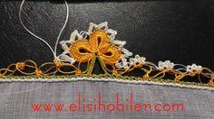 Tığ işi papatya oyası yapılışı #crochet #örgü #needle #iğneoyası #iğneoyaları #yazma #elisi