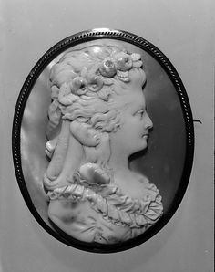 Ivory Cameo Portrait of Martha Washington