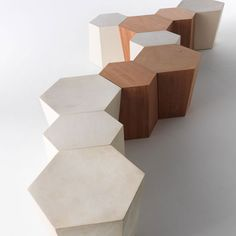 Hexagon Side Table or Stool   Panik Design