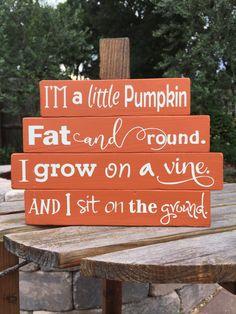 SMALL - Wood Pumpkin - Fall Decor - Wood Pumpkin Stack - Thanksgiving Decor…