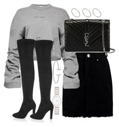 """Untitled #2888"" by theeuropeancloset on Polyvore featuring Boohoo, Magda Butrym, River Island, Yves Saint Laurent, Humble Chic, Forever New and ASOS"