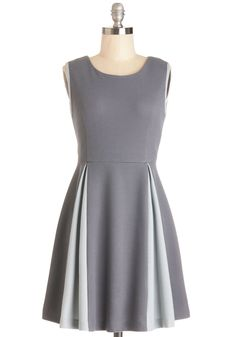 A Keen Slate Dress, #ModCloth  Have a dress this cut in a nice tan color! this would be great to add to my collection!