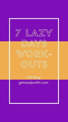 Regardless of your fitness level, some days you won't exactly feel like getting up. This doesn't mean that you can't move your body and practice mindfulness in a controlled manner. There's a workout for every mood, and they all vary in their level of moderation. So, whether you're kinda lazy or super lazy, there's a workout for you. Do note that these 7 lazy days workouts should only be done when you truly can't get yourself to go all in, and should never be done for more than 2 days in a… Move Your Body, Lazy Days, Day Work, You Fitness, You Got This, Mindfulness, Training, Mood, Feelings