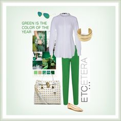 """""""Etcetera Spring 2013 - Green The Color Of The Year!"""" by etcetera-nyc ❤ liked on Polyvore"""