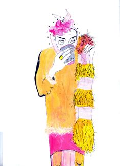 Illustration work from final year students of the BA (Hons) Fashion Design course at the University of Westminster.
