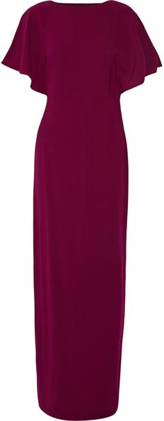 Halston Heritage Draped stretch-crepe gown