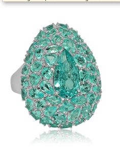 Exceptional Paraiba Tourmaline ring
