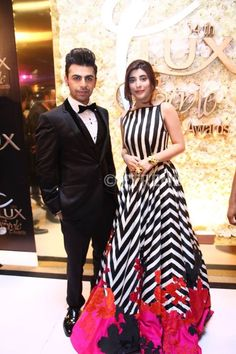 Urwa Hocane with Farhan Saeed at #LSA2015