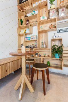 | Me Gusta Corner Desk, Table, Design, Furniture, Home Decor, Cafeteria Decor, Arquitetura, Cafe Interior Design, I Like You