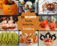 15 Halloween Treats Perfect for Toddlers #halloweenfaves #halloweentreats #toddlerfoods