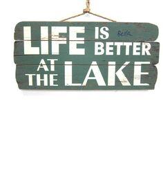 Life Better At Lake Teal Wall Decor