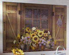 Sunflower Scene Removable Wall Sticker