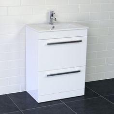 Turin Floor Standing Vanity Unit & Basin 600mm