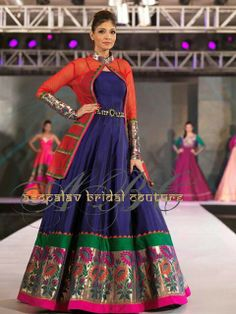 minus the jacket with a lovely shawl Indian Dress Up, Indian Attire, Indian Outfits, Indian Wear, Choli Dress, Anarkali Dress, Gown Dress, Anarkali Suits, Lehenga Designs