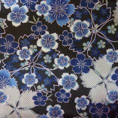 Papier japonais s rigraphie fleurs de cerisiers bleues for Meuble japonais bleu